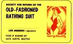 SOCIETY FOR THE RETURN OF THE OLD-FASHIONED BATHING SUIT