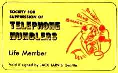 SOCIETY FOR SUPPRESSION OF TELEPHONE MUMBLERS