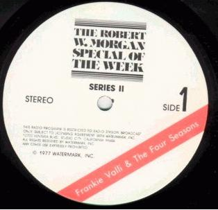 Special Of The Week Frankie Valli & The Four Seasons label from Series II