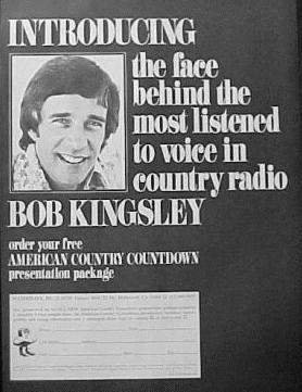 Meet the voice - a 1978 ad introducing Bob Kingsley as the new host of ACC