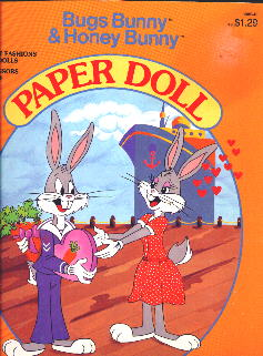 Bugs and Honey Bunny Golden Book Paper Dolls-Front Cover